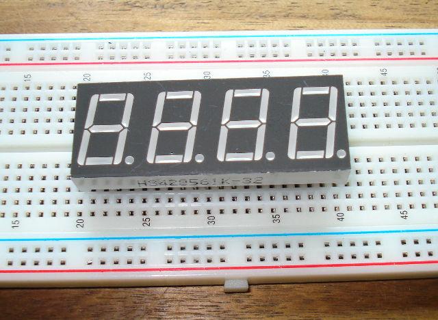 Arduino using the digit segment display hs k