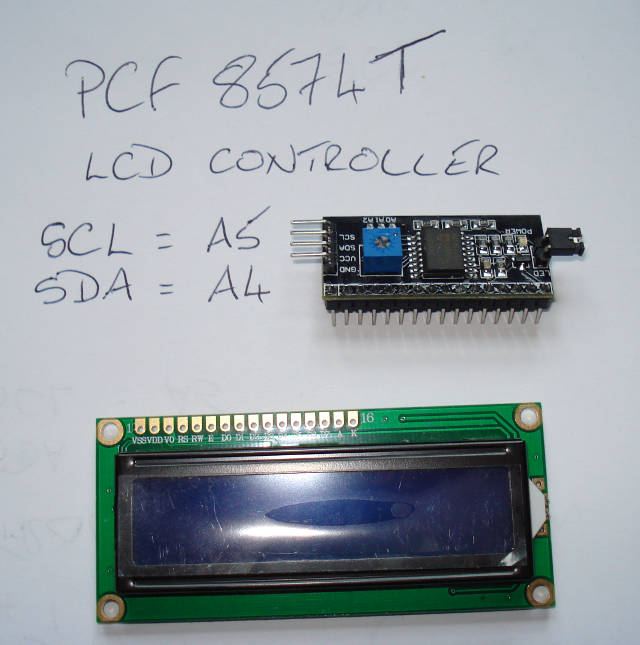 Arduino - PCF8574 lcd controller